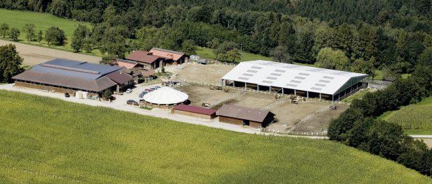 Long View Ranch aus der Luft